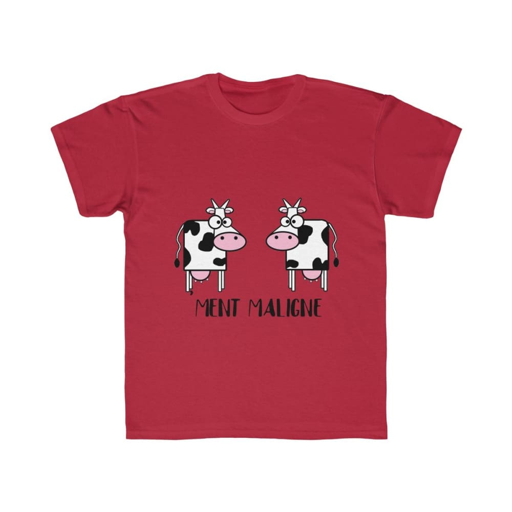 T-shirt vachement maligne - Red / XS - DTG - Kid's Clothing