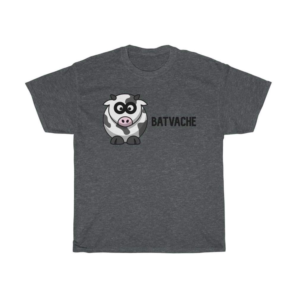 T-unisexe batvache - Dark Heather / S - Crew neck - DTG -