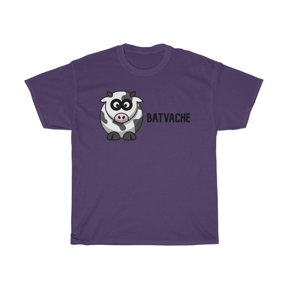 T-unisexe batvache - Purple / S - Crew neck - DTG - Men's