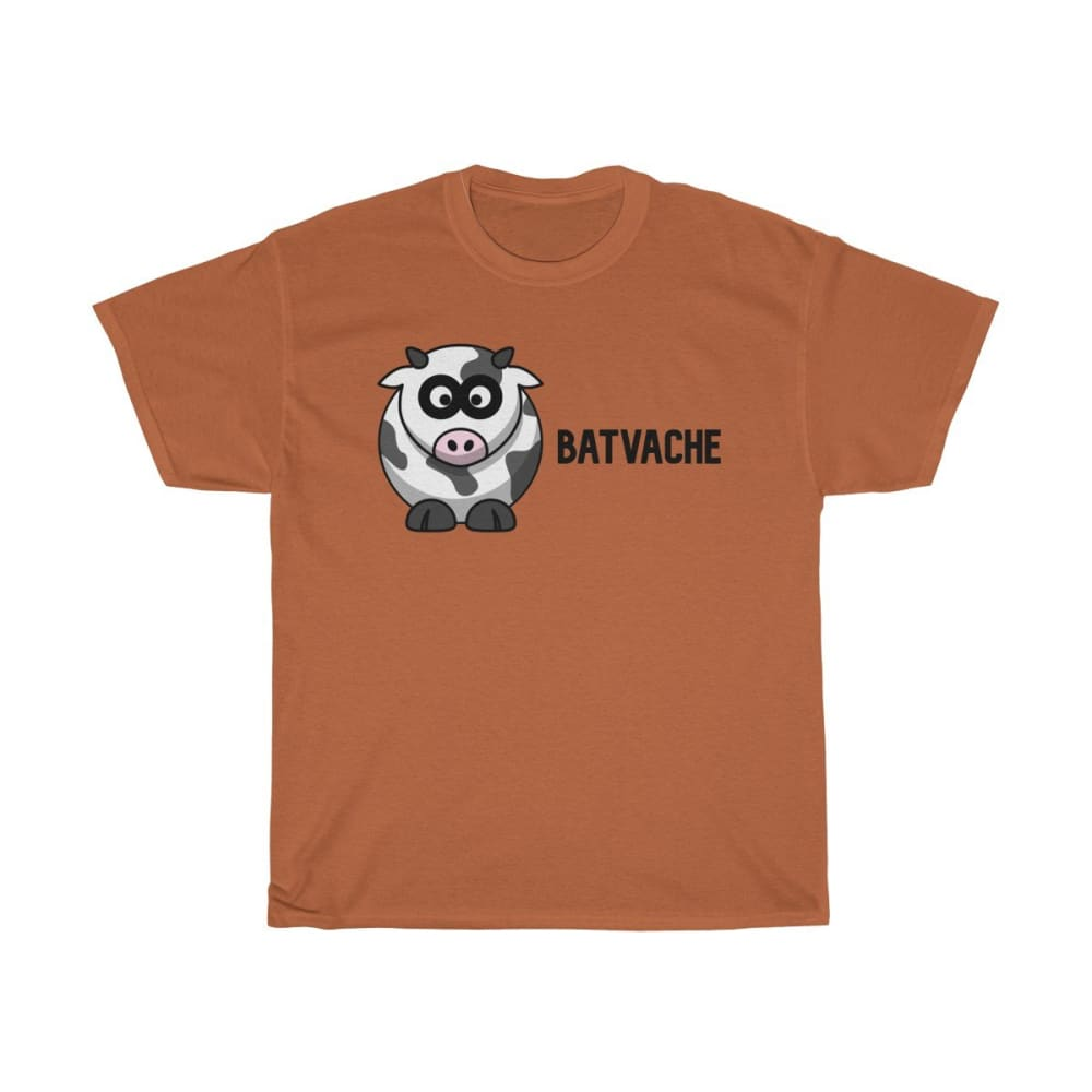 T-unisexe batvache - Texas Orange / S - Crew neck - DTG -