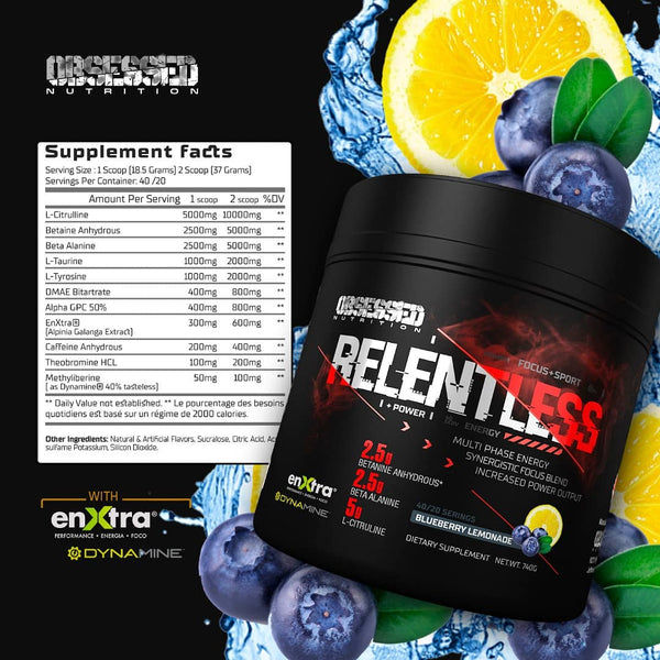 Nutrition Junction Obsessed Nutrition Relentless pre workout