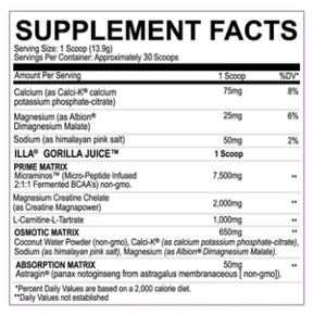 Limited Edition- Gorilla Juice ILLA - The Nutrition Junction