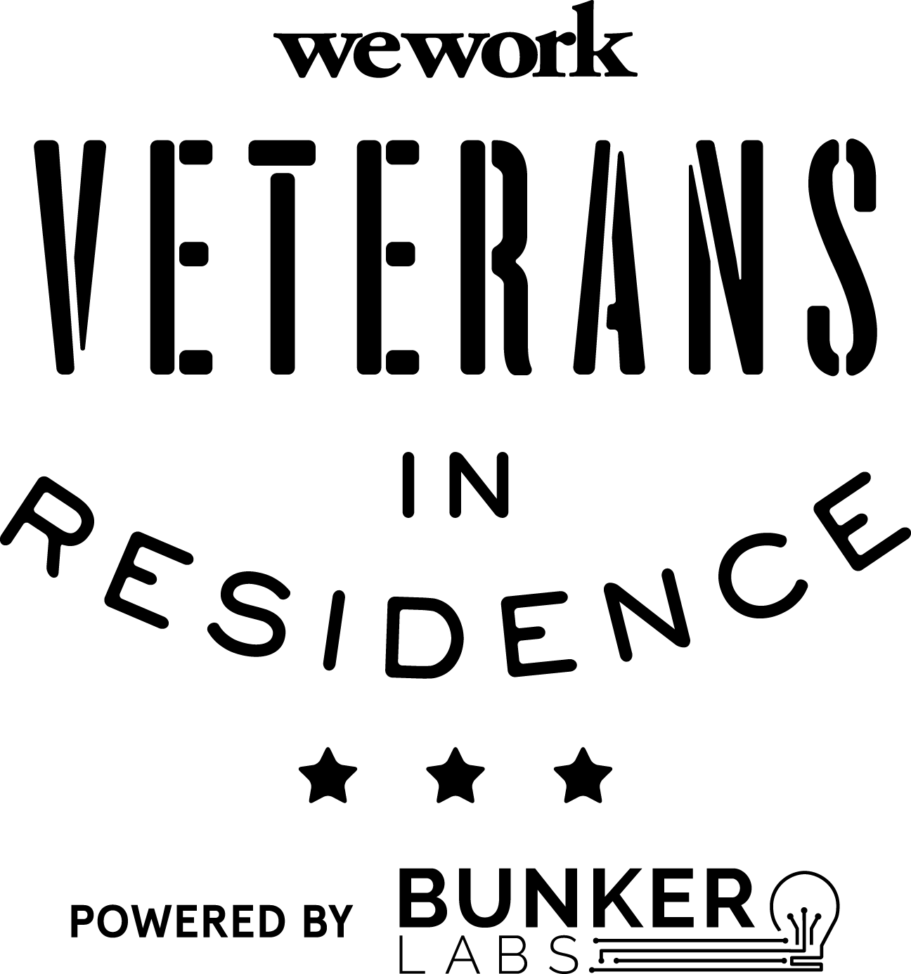 WeWork and Bunker Labs Veterans-in-Residence Logo