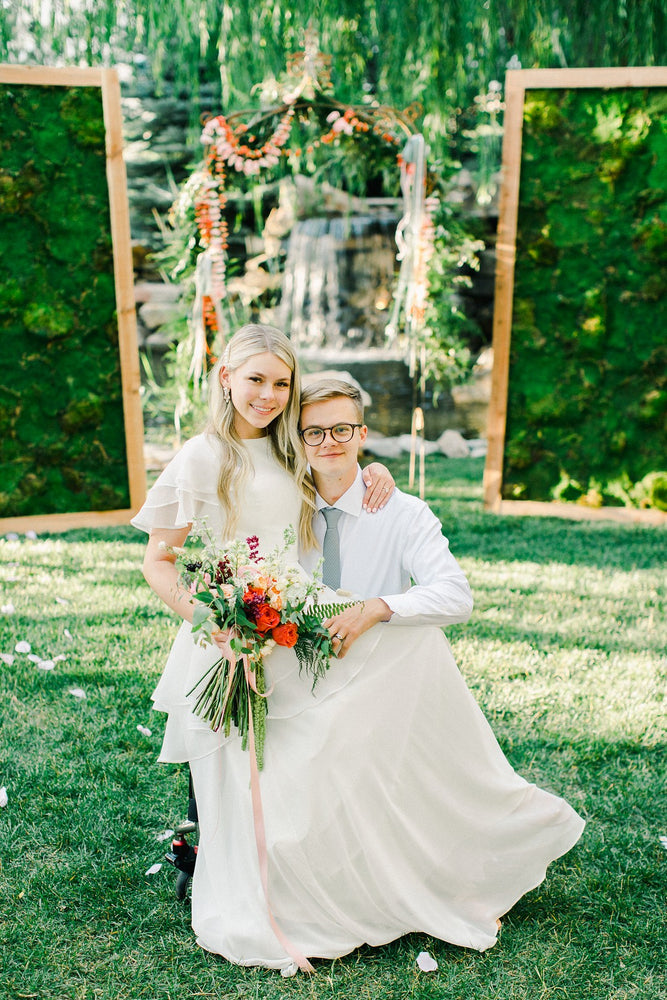 A Gorgeous Intimate Garden Wedding