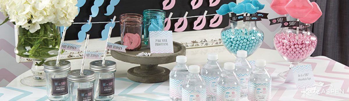 Gender Reveal Party Favors & Decor