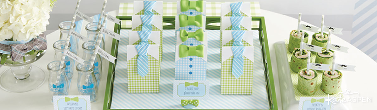 My Little Man Baby Shower Favors & Decor