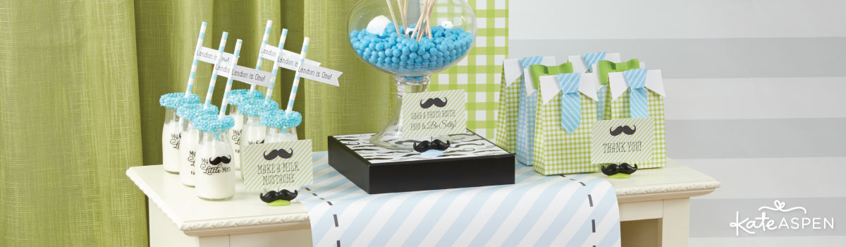 My Little Man Birthday Party Favors & Décor