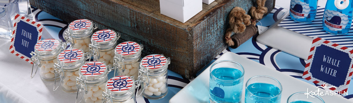 Nautical Birthday Party Favors & Décor
