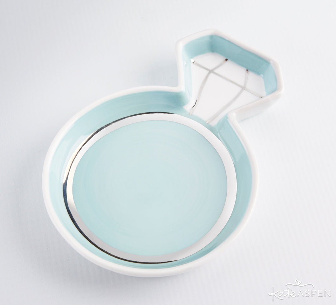 Diamond Ring Trinket Dish | Gifts and Decor For a Something Blue Bridal Shower | Kate Aspen