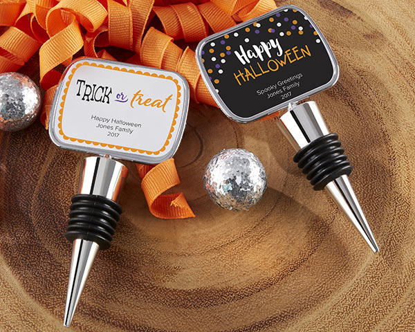 Personalized Halloween Bottle Stoppers | 6 Spooky Halloween Party Essentials | Kate Aspen