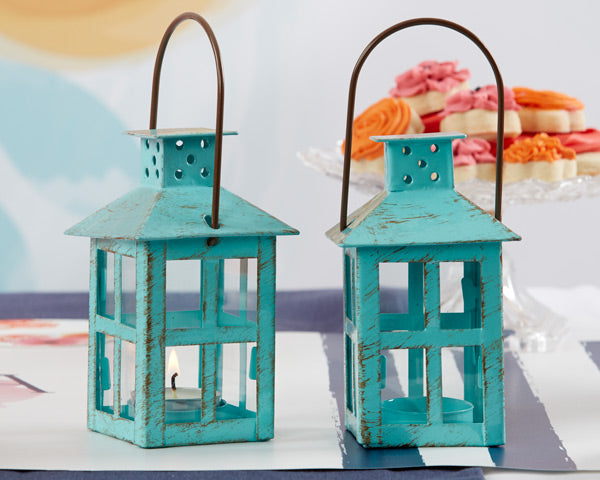 Small Blue Tealight Lanterns - Kate Aspen