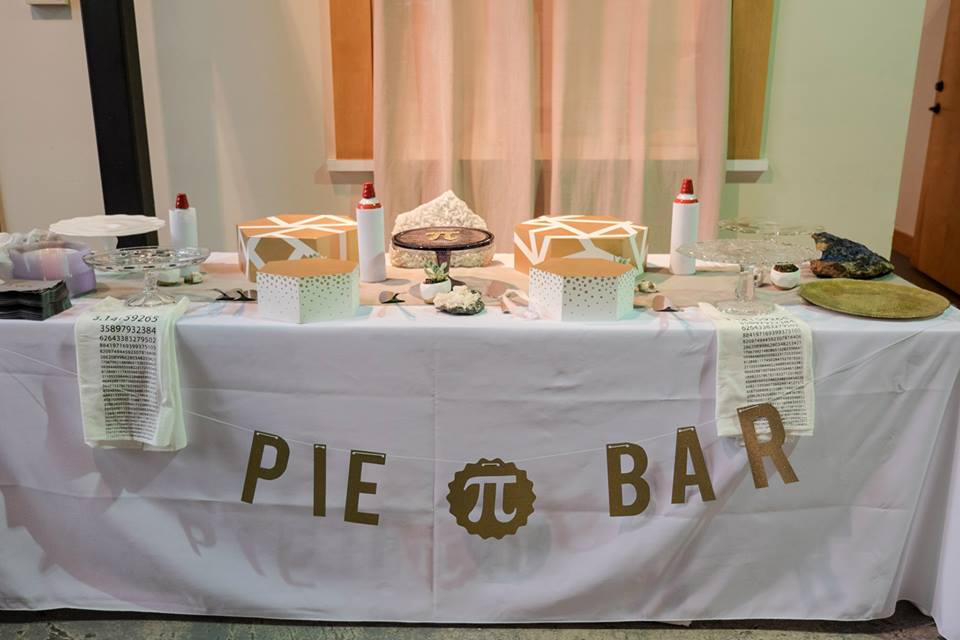 Pie / Pi bar wedding buffet table | Sam Spencer Imaging