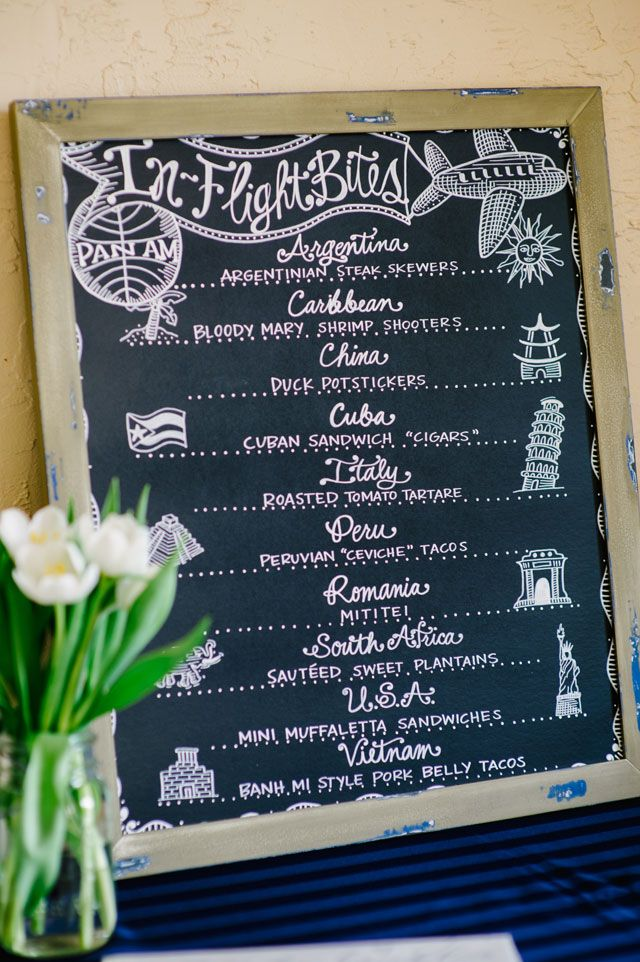 International Menu | Marissa Moss Photography via Artfully Wed