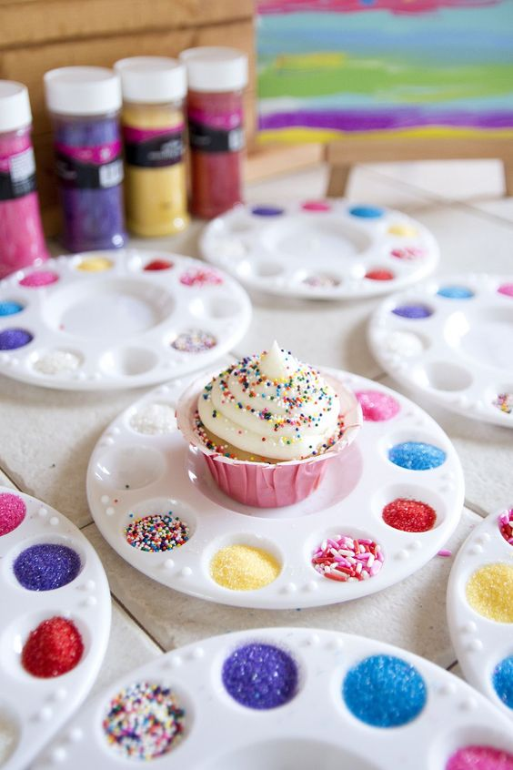 Cupcake and Cookie Decoration | 10 Unique and Interesting Birthday Party Themes | Kate Aspen