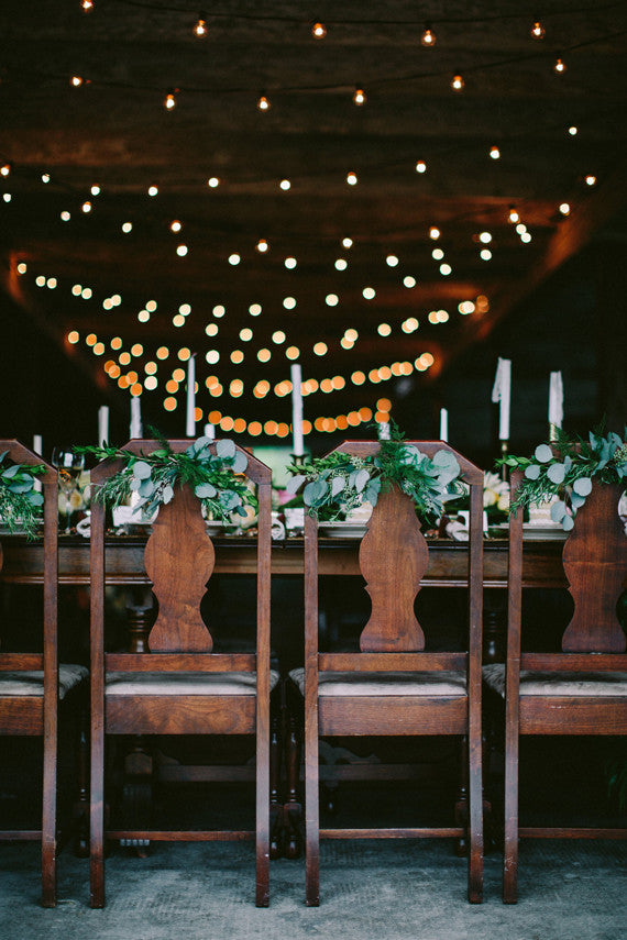 Danaea Li Photography via Green Wedding Shoes | Lighting Ideas Kate Aspen Blog