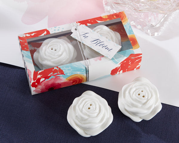 Flower Salt and Pepper Shaker Favors - Kate Aspen
