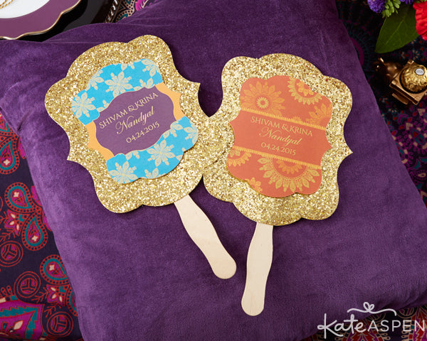 Jewel Tone Indian Wedding Programs from Kate Aspen