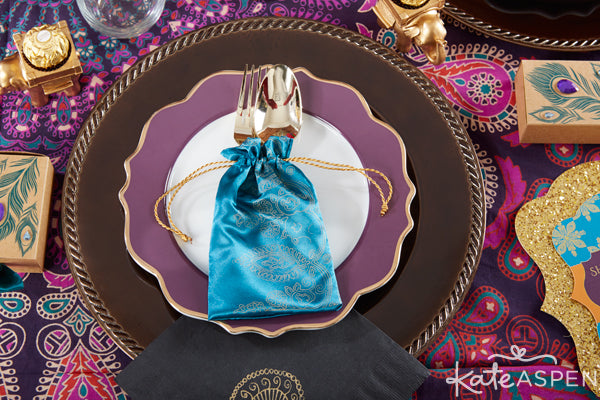 Indian Wedding place setting ideas from Kate Aspen