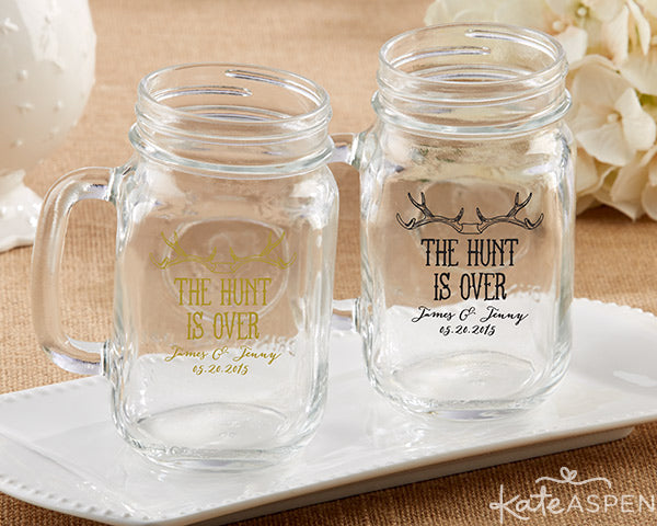 Kate Aspen Engagement Party Favors and Decor | Bridal Shower Favors and Decor | The Hunt Is Over | Antler Themed Engagement Party