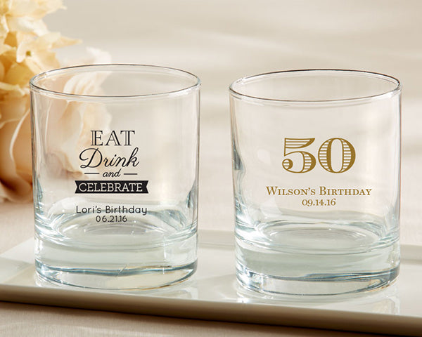 Personalized Rocks Glasses By Kate Aspen