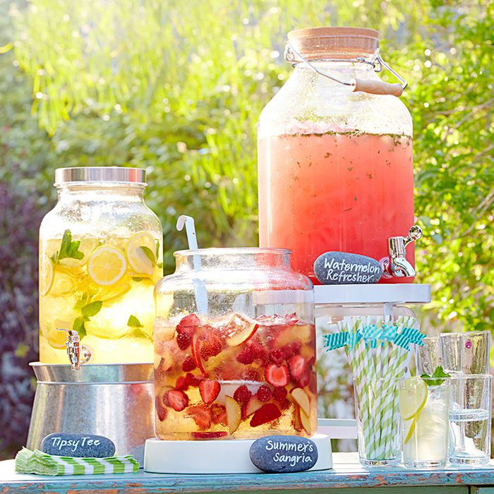 Provide Unique and Refreshing Beverages | Creating The Perfect Backyard BBQ | Kate Aspen