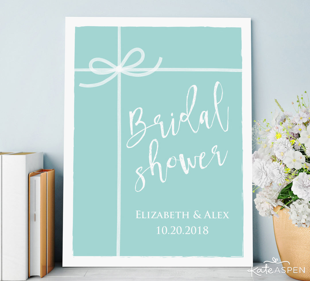 Personalized Something Blue Poster | Gifts and Decor For a Something Blue Bridal Shower | Kate Aspen