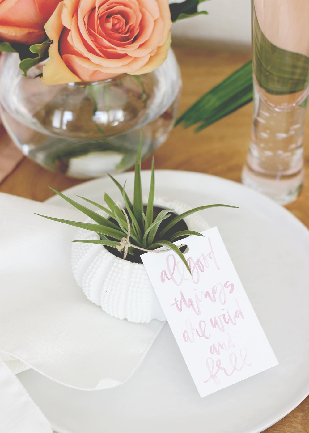 All Good Things Are Wild and Free Air Plant Favor by A Fabulous Fete with Kate Aspen Sea Urchin Planters | Bachelorette Party Favor Ideas