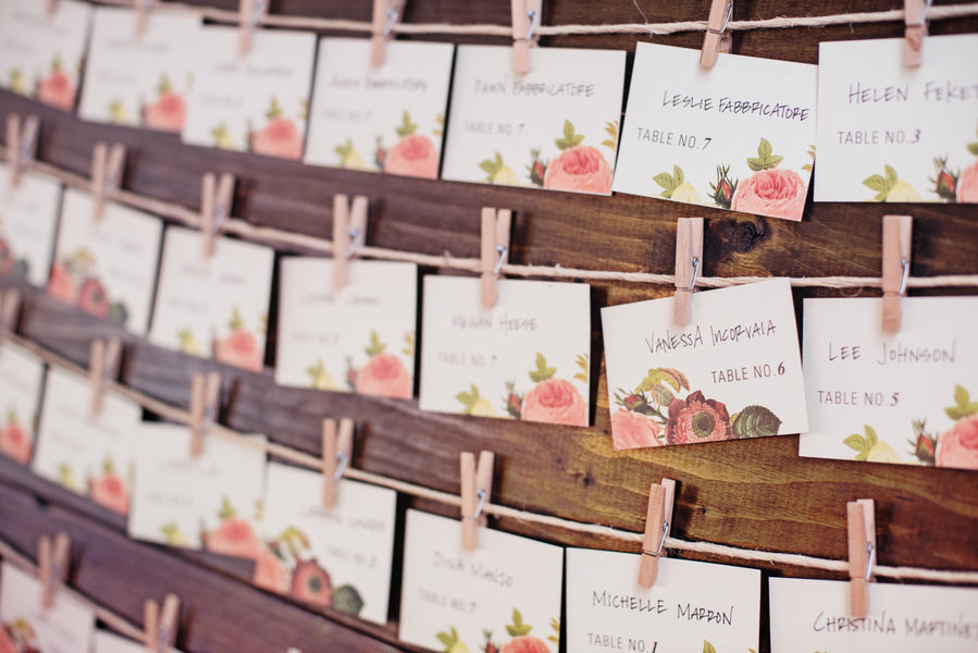 Place Cards | A Pink & White Garden Bridal Shower | Kate Aspen