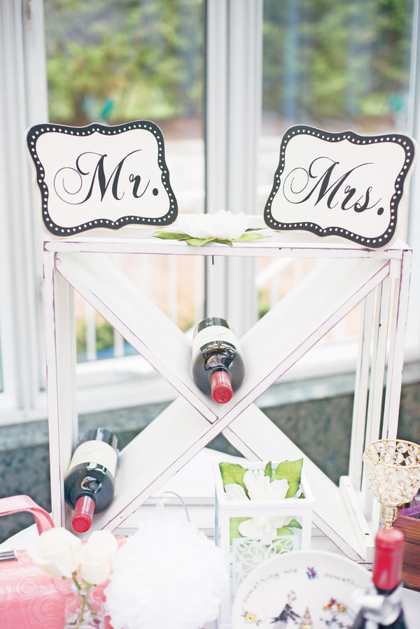 Mr. & Mrs. Wine Rack | A Pink & White Garden Bridal Shower | Kate Aspen