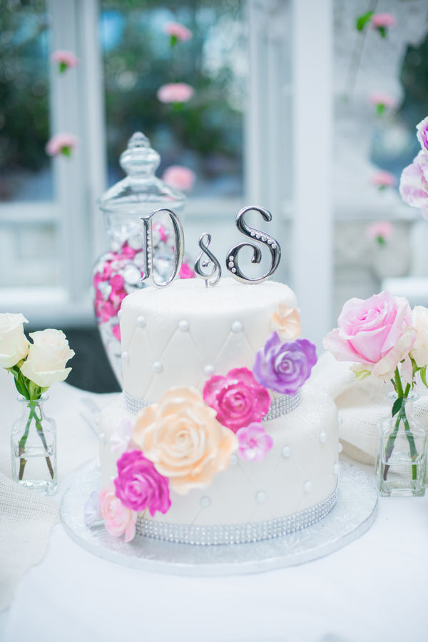 Bridal Shower Cake | A Pink & White Garden Bridal Shower | Kate Aspen