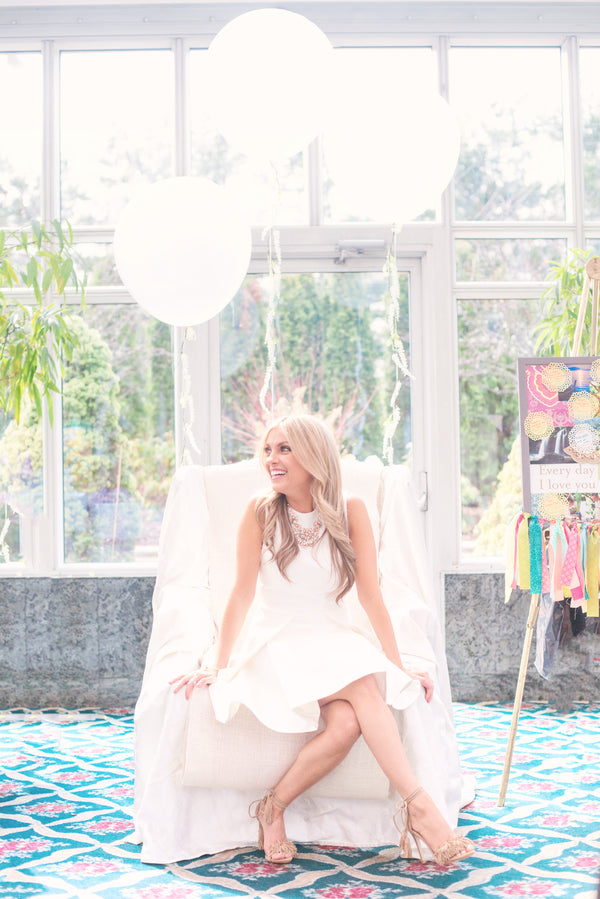 Bride-to-be | A Pink & White Garden Bridal Shower | Kate Aspen