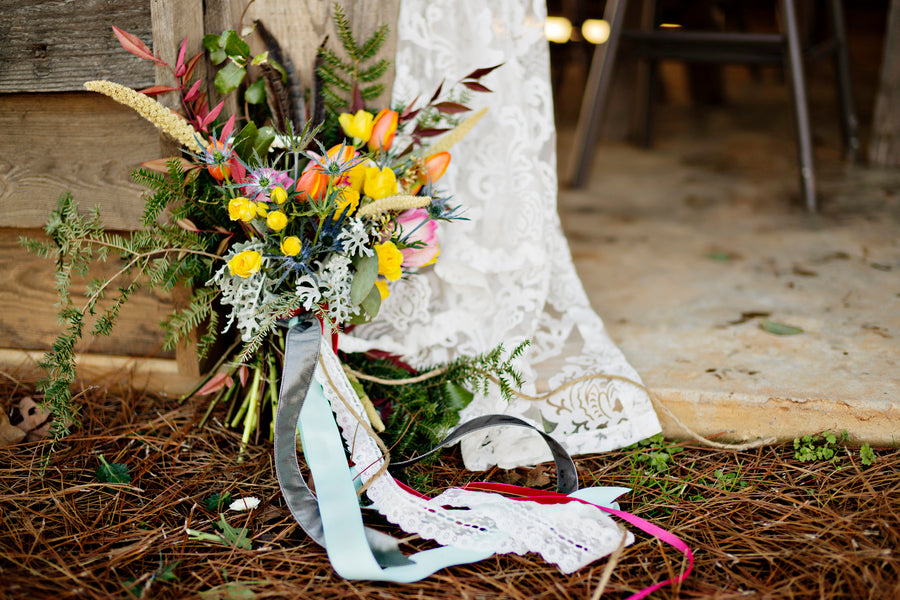 Wildflower boho bouquet | Andie Freeman Photography