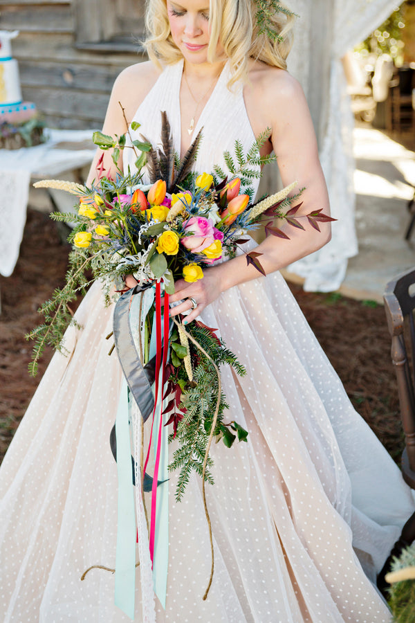 Boho bridal bouquet | Andie Freeman Photography