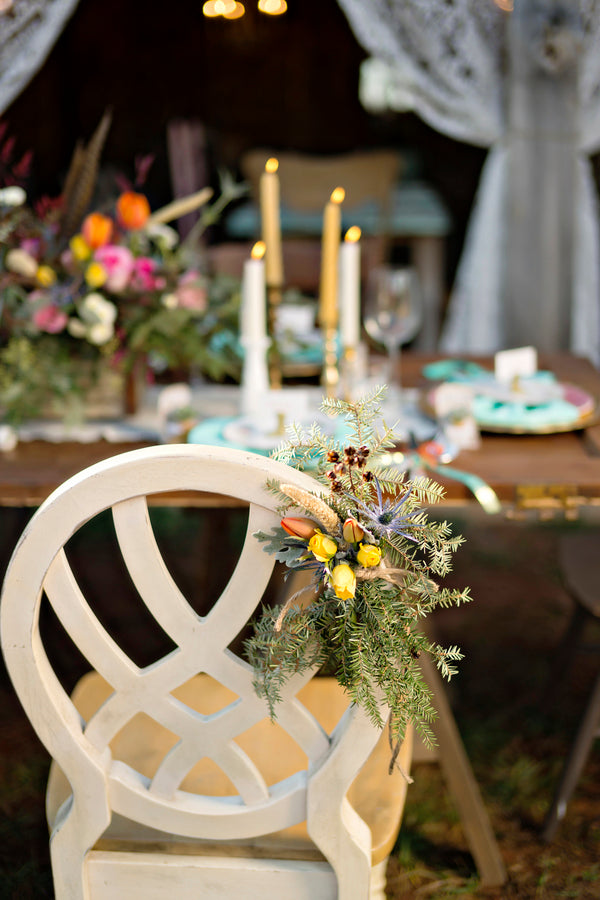 Bohemian chair backers | Andie Freeman Photography