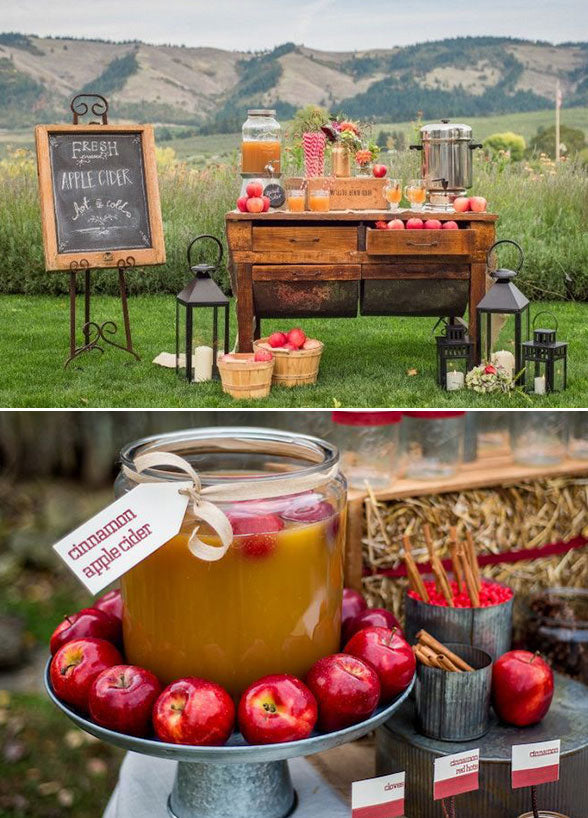 Apple Cider Bar | Jen Jones Photography | 7 Festive Fall Party Ideas | Kate Aspen