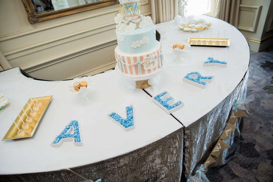 Avery Sign | An Up Up & Away Baby Shower | Kate Aspen