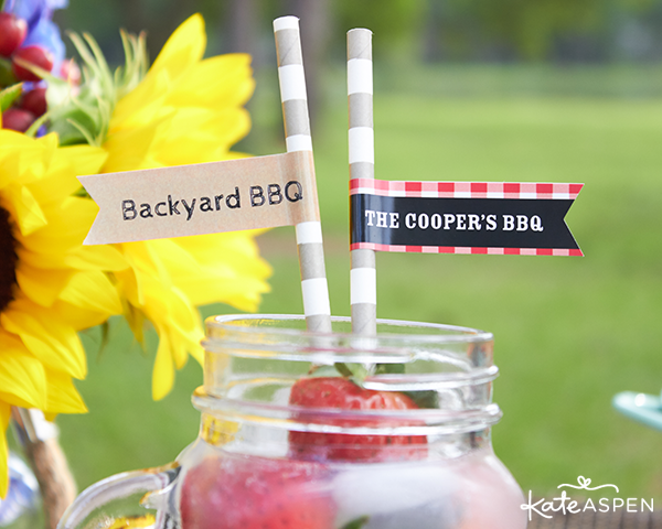 Backyard barbecue straws