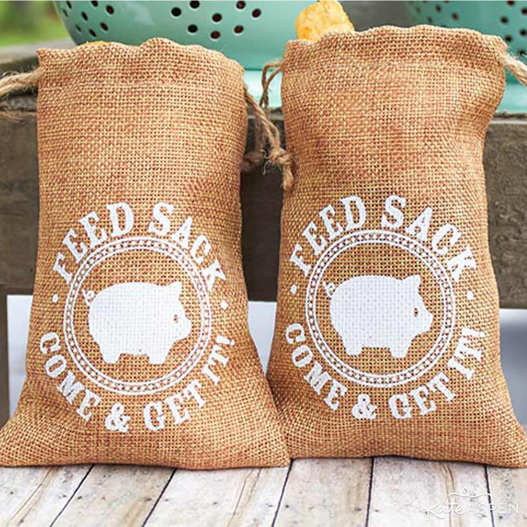 Burlap Feed Sack Favor Bag | Kate Aspen | Baby Shower Bundle Giveaway