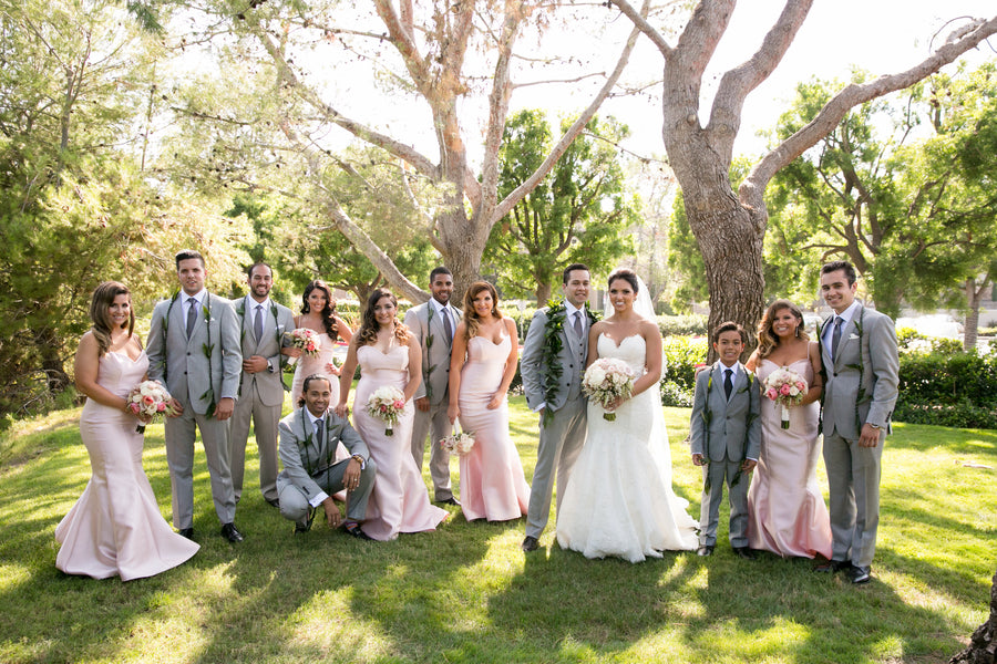 Bridal Party | An Elegant Country Club Wedding | Kate Aspen
