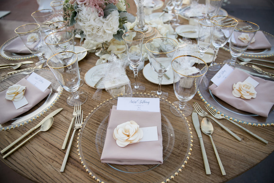 Table Setting | An Elegant Country Club Wedding | Kate Aspen
