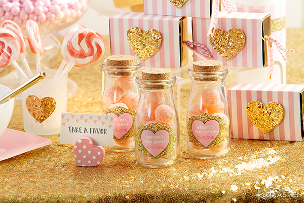 Milk Jar Favors and Favor Boxes | Baby Love Baby Shower by Kate Aspen | KateAspen.com