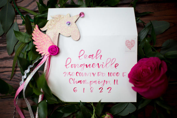 Baby Shower Invitations | A Magical Pink Baby Shower | Kate Aspen