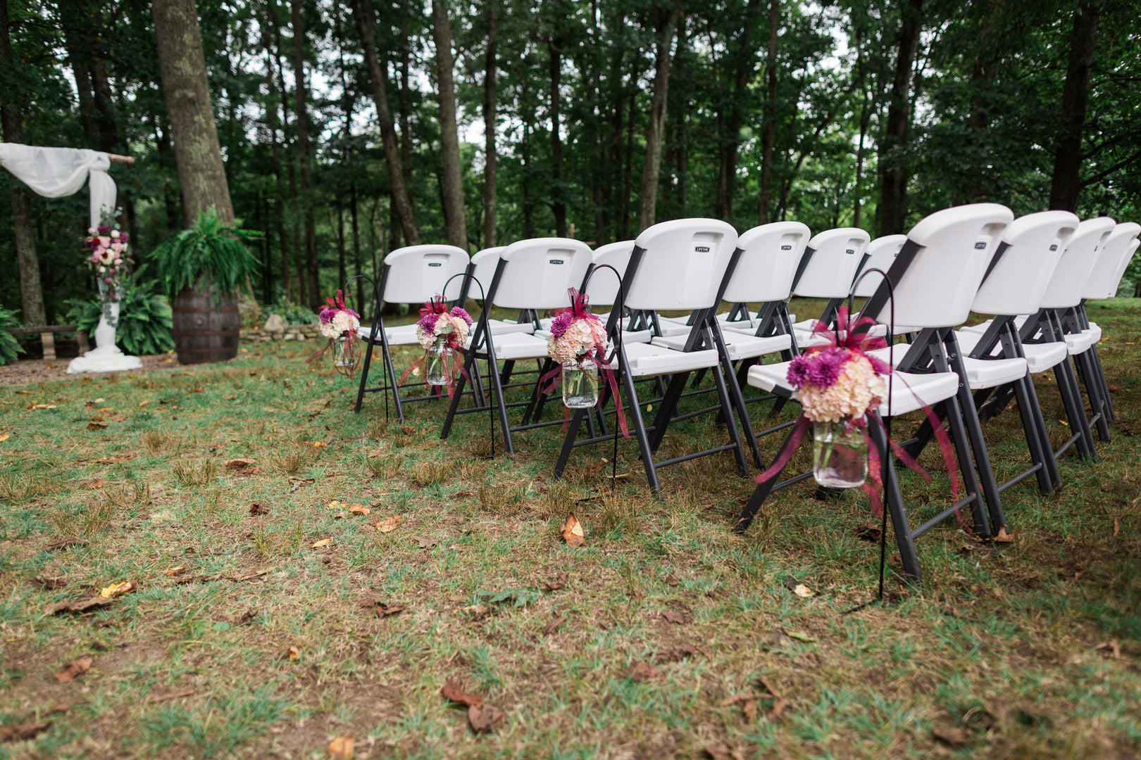 Outdoor Seating | Elegant Outdoor Fall Wedding | Kate Aspen