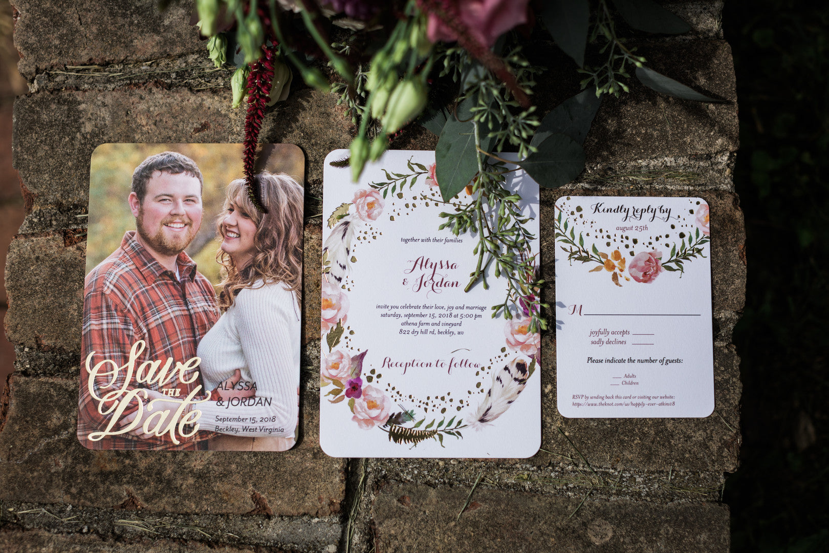 Save The Date Cards | Elegant Outdoor Fall Wedding | Kate Aspen