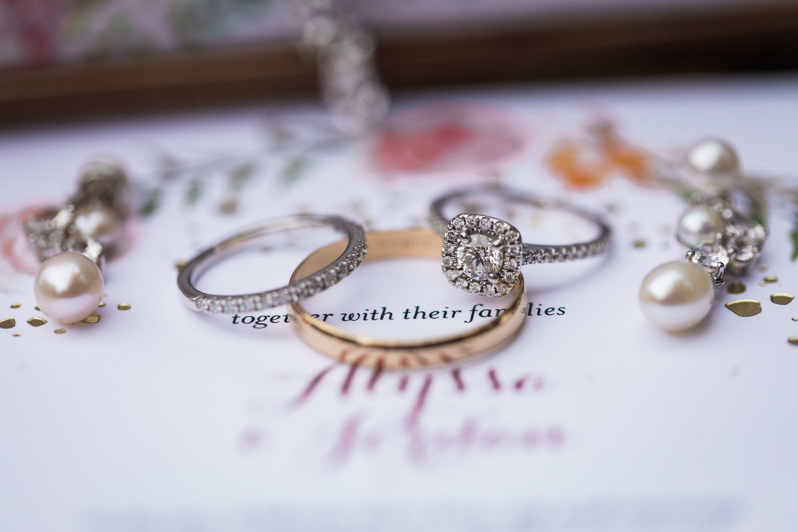 Rings And Jewelry | Elegant Outdoor Fall Wedding | Kate Aspen