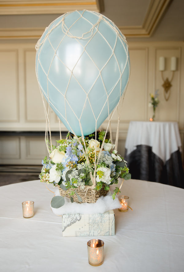Balloon Centerpiece | An Up Up & Away Baby Shower | Kate Aspen