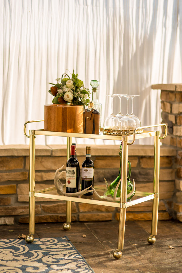 Bar Cart | Al Fresco Vintage Wedding Shoot | Aldabella Photography