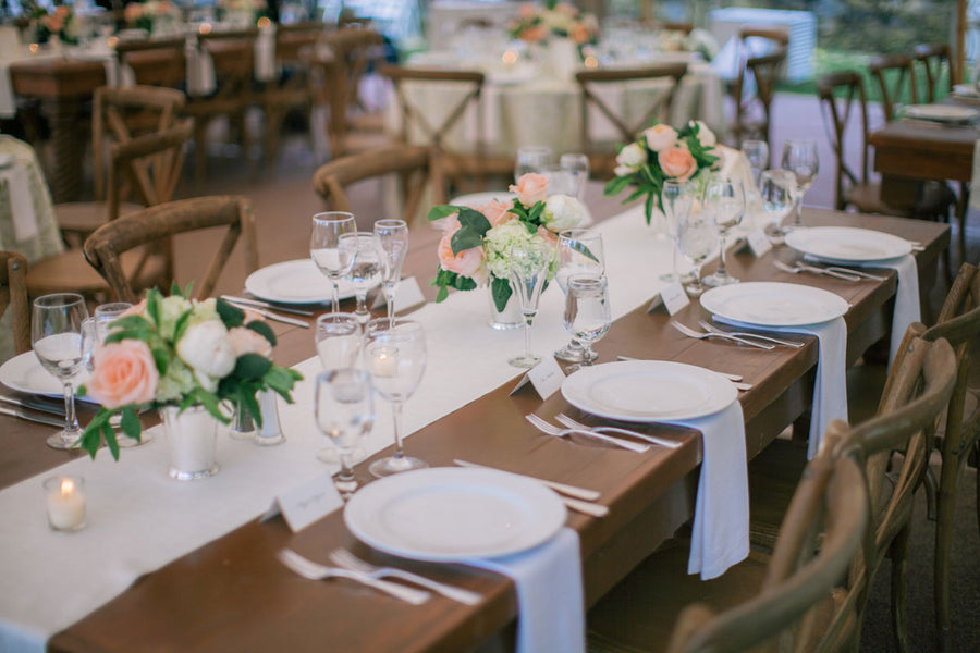 Reception Table | A Spring Wedding in Delaware | Kate Aspen