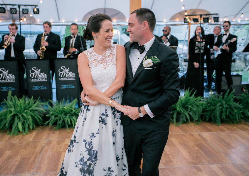 Bride and Groom Dancing | A Spring Wedding in Delaware | Kate Aspen
