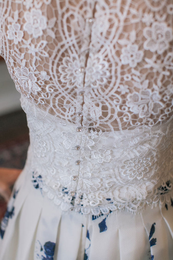 Wedding Dress Details | A Spring Wedding in Delaware | Kate Aspen